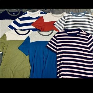 Lot of 7 solid/striped Gap T-Shirts size XL
